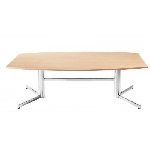 Boardroom Table 2.4m Beech on Chrome Legs
