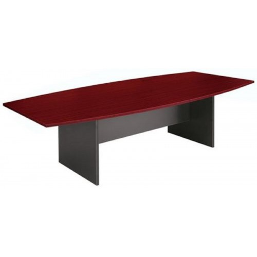 Boardroom Table 2.4m Redwood on Graphite H-Base