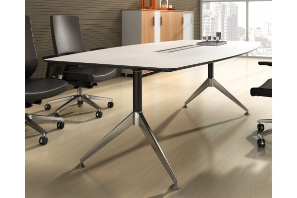 Potenza Boardroom Table 2.4m White