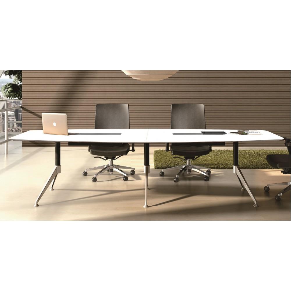 Potenza Boardroom Table 3m White