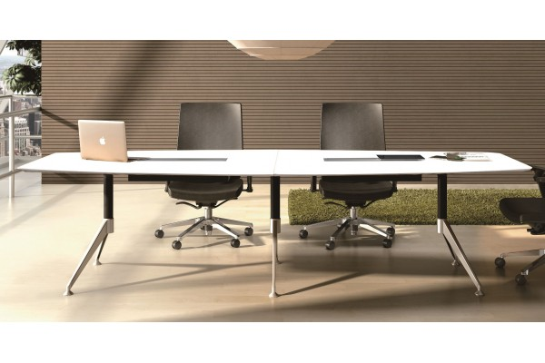 Potenza Boardroom Table 3m White
