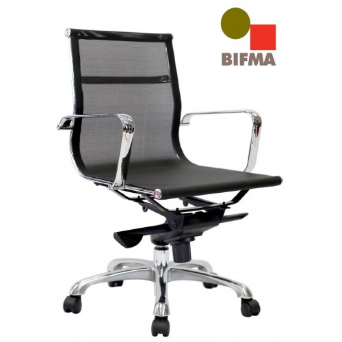 Eames Replica Office Chair Medium Back Mesh Black
