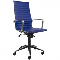 Eames Replica Office Chair Navy High Back