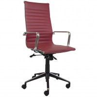 Eames Replica Office Chair Red High Back