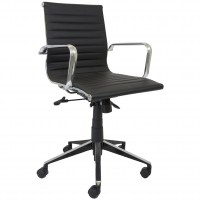 Eames Replica Office Chair Black Med Back