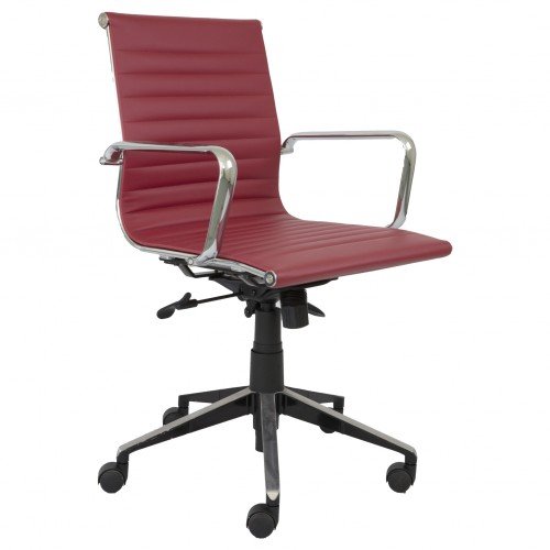 Eames Replica Office Chair Red Med Back