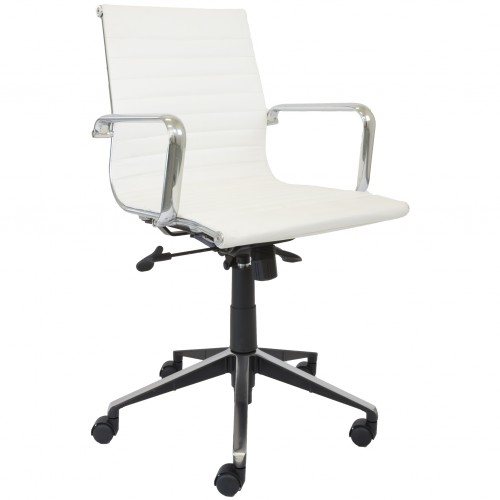Eames Replica Office Chair White Med Back