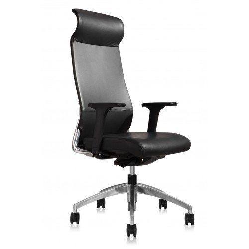 Burton Leather Chair High Back