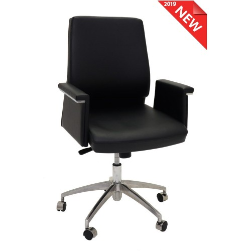 Pelle Executive Medium Back Chair
