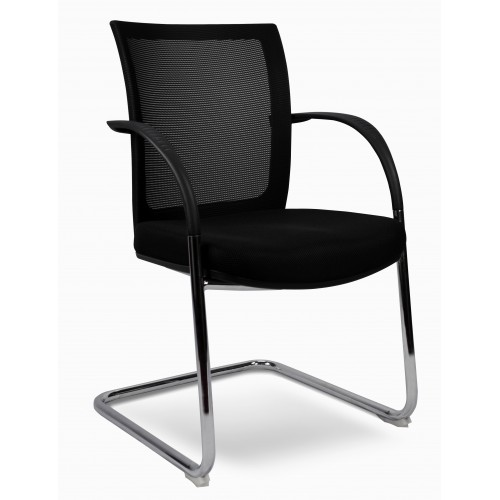 Cosmo Visitor Chair -  Mesh Back PU Seat