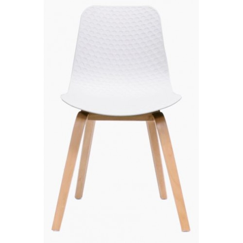 Lucid Visitor Chair with Timber Base