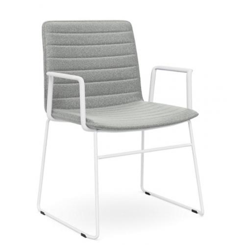Nikola Chair Sled Base + Arms  CHOICE OF COLOURS