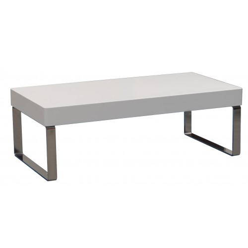 Lux Coffee Table Gloss White  - 1000 x 600 x 450