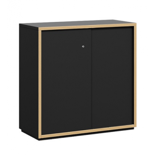 Grid Line Low Height Sliding Credenza