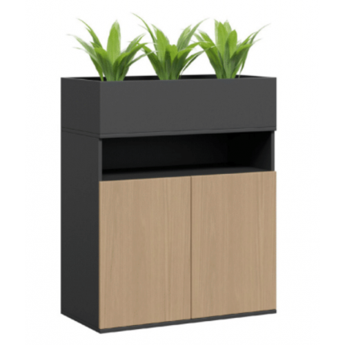 Planter Box Cupboard with Open Storage
