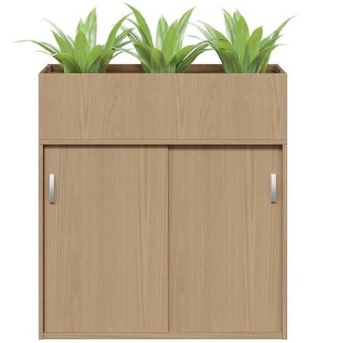 Planter Box Sliding Door Cabinet