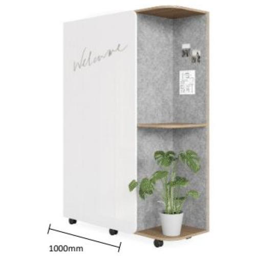 Multipurpose Storage with White Sheen Door