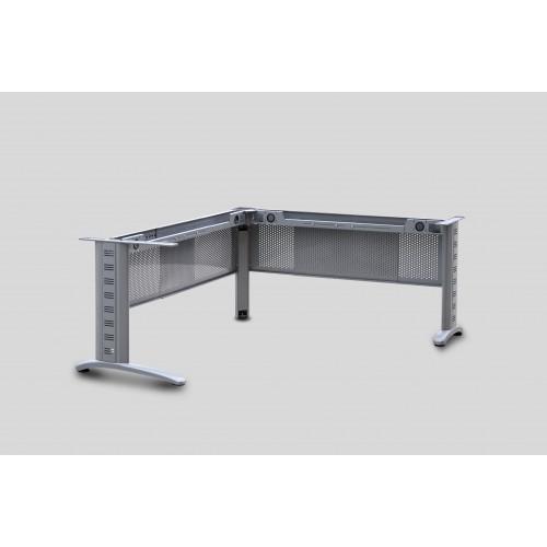 Corner Desk Metal Frame with Adjustable Modesty Panels