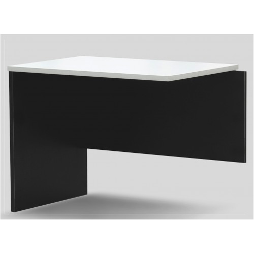 Desk Extension - White & Graphite