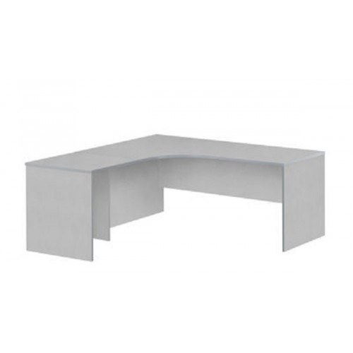 Workstation 2 Piece Radial Desk - All White