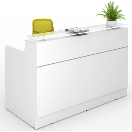 Classic Reception Desk 1800mm White