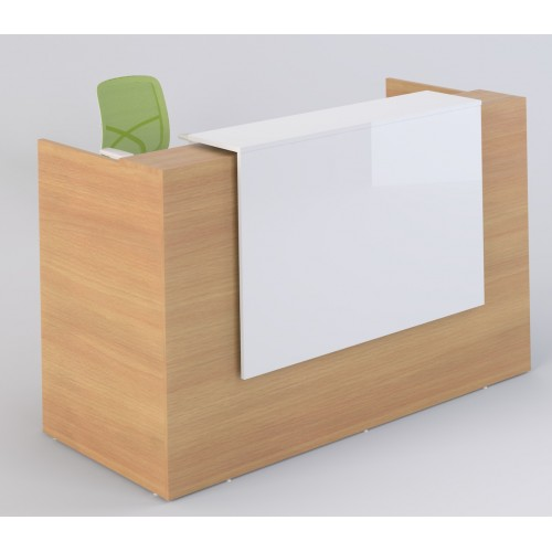 Sorrento Reception Desk 2 Sizes Beech & White