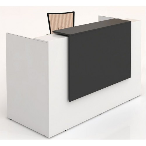 Sorrento Reception Desk 2 Sizes White & Black