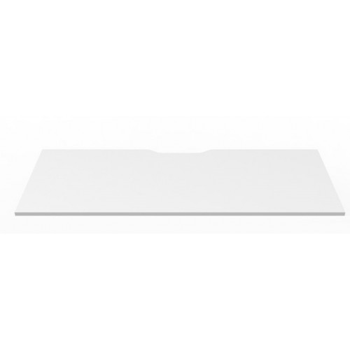 Desktop Natural White Scalloped Edge Cable Outlet