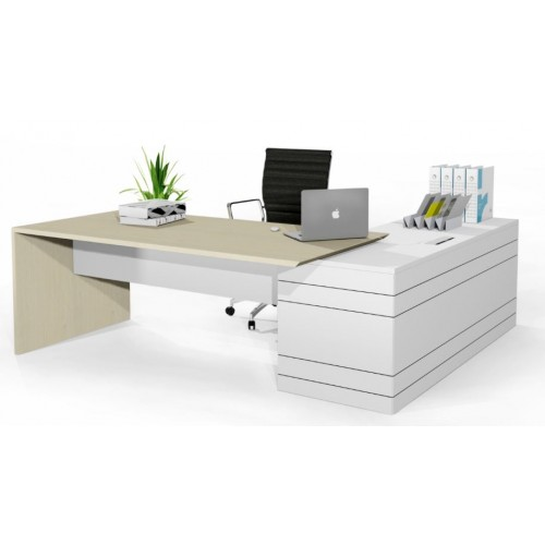Geo Slab End Executive Desk