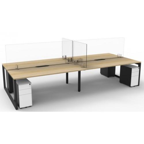 Rapid Clear Acrylic Desk Screens