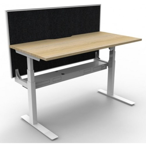 Paramount Height Adjustable Single Workstation with Screen