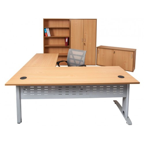 Rapid Span Desk  with Extension - Beech Top