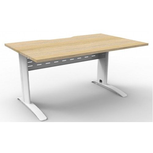 Deluxe Rapid Span Desk - Natural Oak Top with Choice of Bases