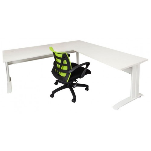 Rapid Span Desk  with Extension - White Top