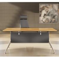 Novara Manager Desk in Zebrano Wood Veneer
