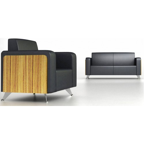 Novara Executive Lounge Wood Veneer and Leather