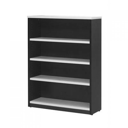 Bookcase in White and Graphite - 1500mm High