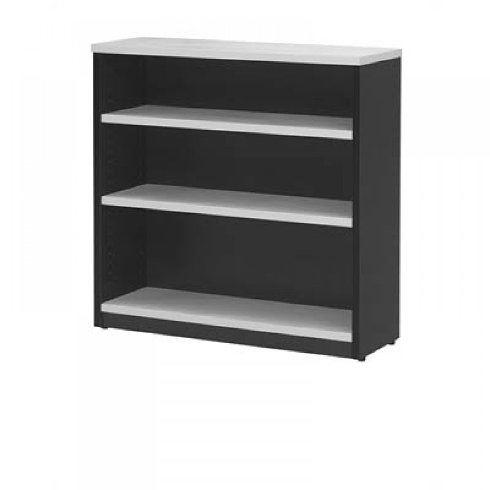 Bookcase in White and Graphite - 1200mm High
