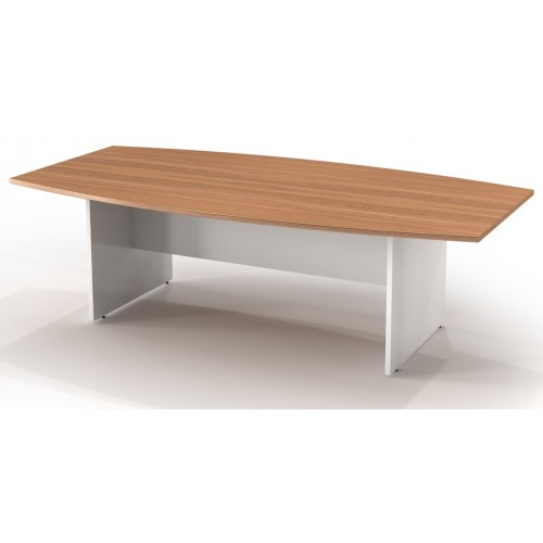 Boardroom Table 2.4m Birch and White H-Base