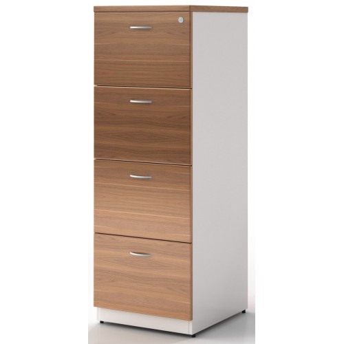 Filing Cabinet - 4 Drawer Birch and White