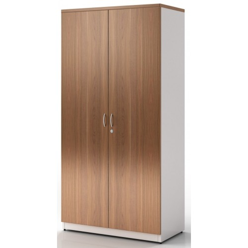 Cupboard Full Doors Lockable in Birch and White