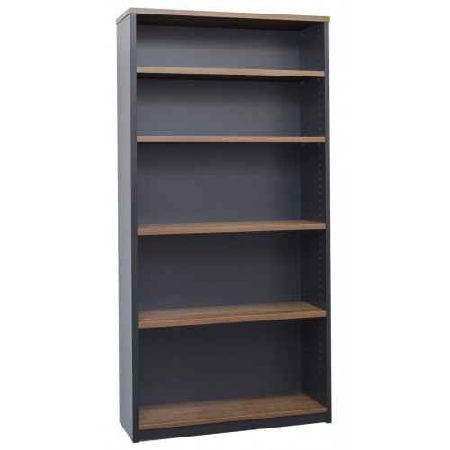 Bookcase in Walnut and Graphite - 1800mm High