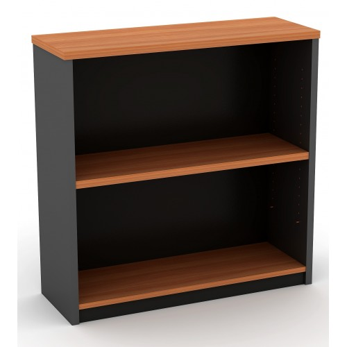 Bookcase in Cherry and Graphite - 900mm High