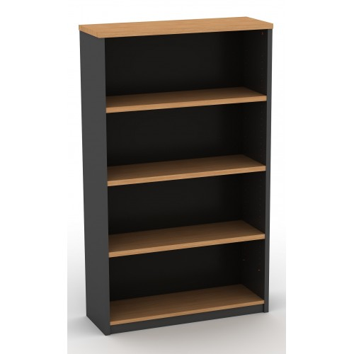 Bookcase in Beech and Graphite - 1500mm High
