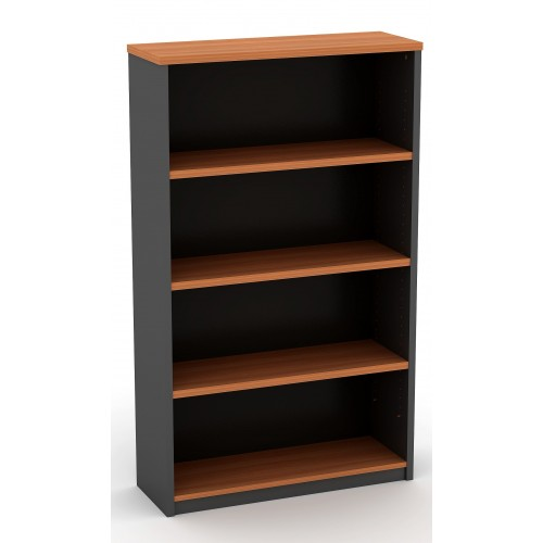 Bookcase in Cherry and Graphite - 1500mm High