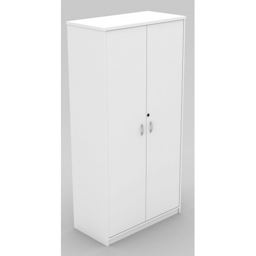 Cupboard Full Doors Lockable in White