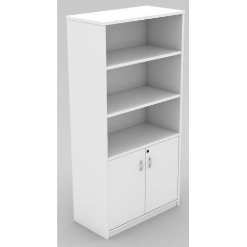 Cabinet Half Doors Lockable - White