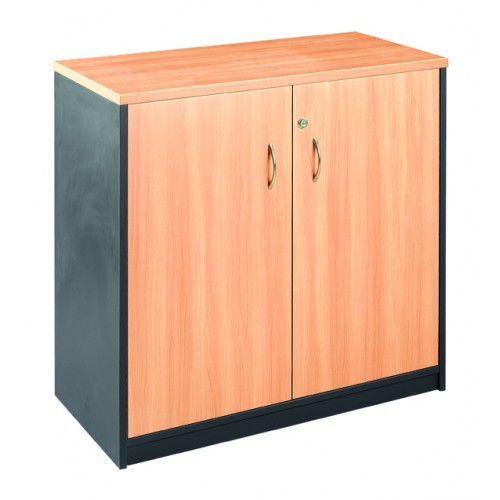 Stationery Cupboard Lockable in Beech and Graphite