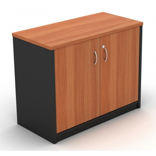 Stationery Cupboard Lockable in Cherry and Graphite