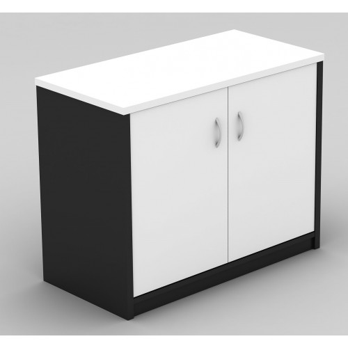 Stationery Cupboard Lockable in White and Graphite